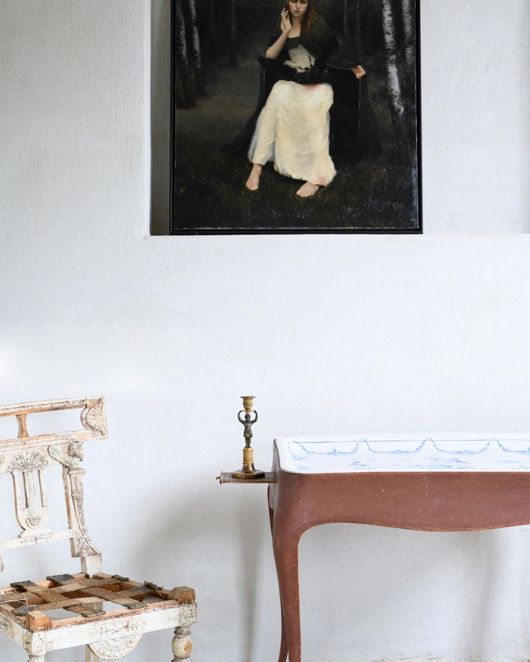 Most Unusual 18th Century Swedish Rococo Tea Table For Sale 8