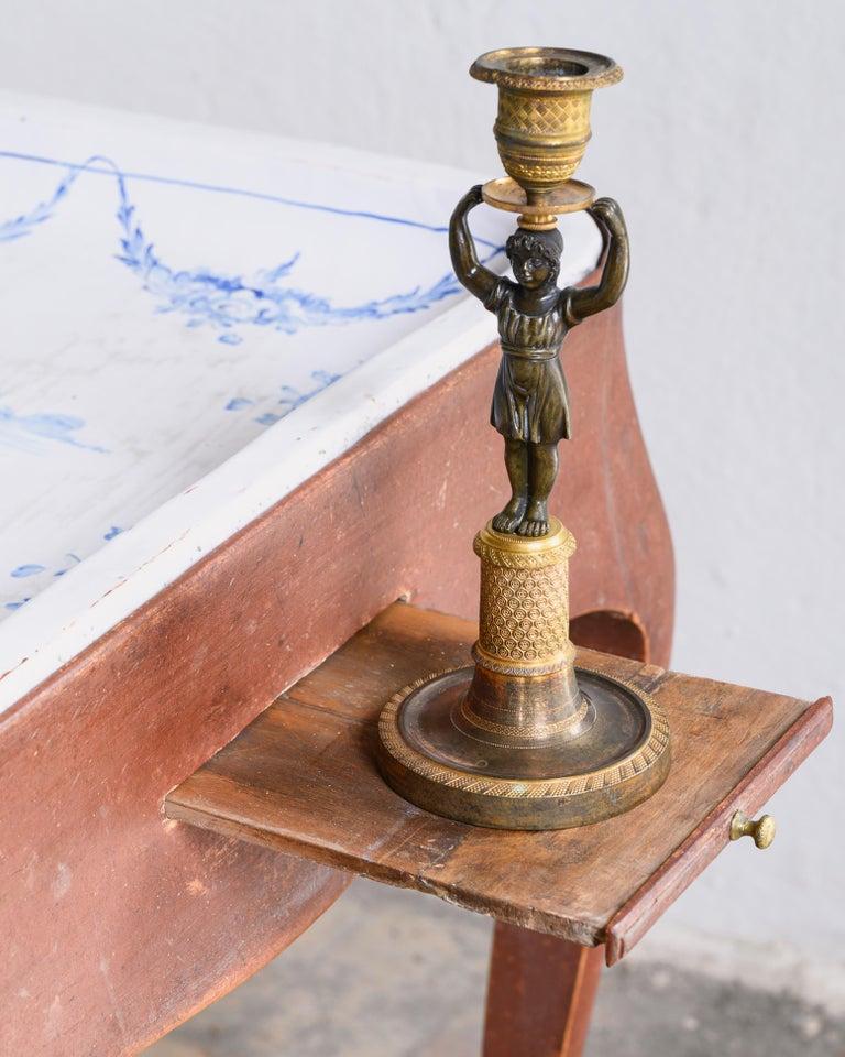 Most Unusual 18th Century Swedish Rococo Tea Table In Good Condition For Sale In Helsingborg, SE