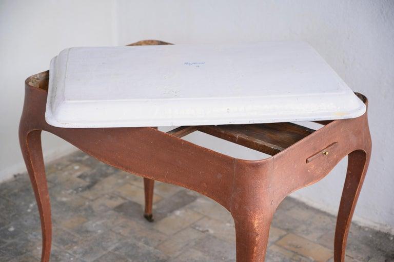 Most Unusual 18th Century Swedish Rococo Tea Table For Sale 2