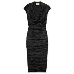 MOST WANTED LANVIN BLACK METALLIC DRESS sz 4