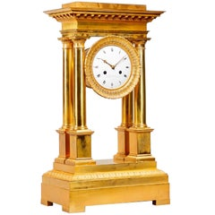 Motel de Choiseul a Paris Portico Ormolu Decorative Clock