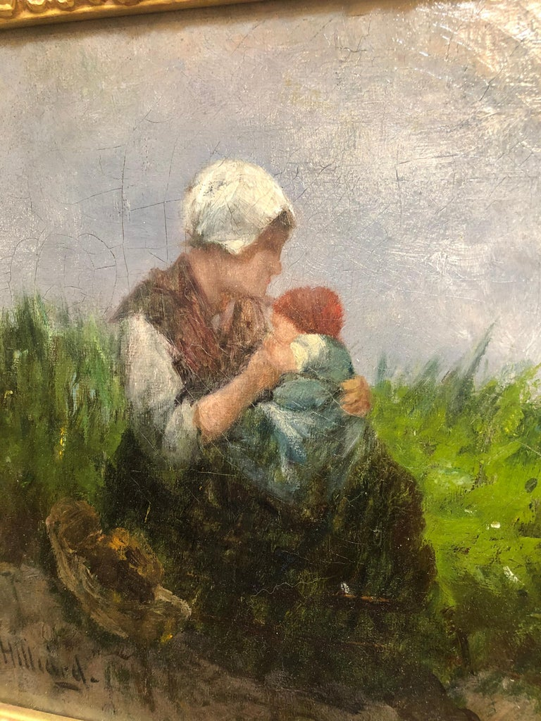 American Mother and Child by William Hilliard For Sale