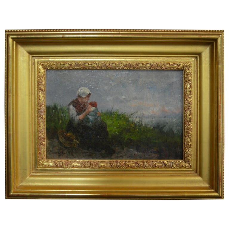 Mother and Child by William Hilliard For Sale