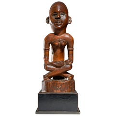 "Mother and Child Figure ""Phemba"", Kongo, Drc, Beginning 20th C"