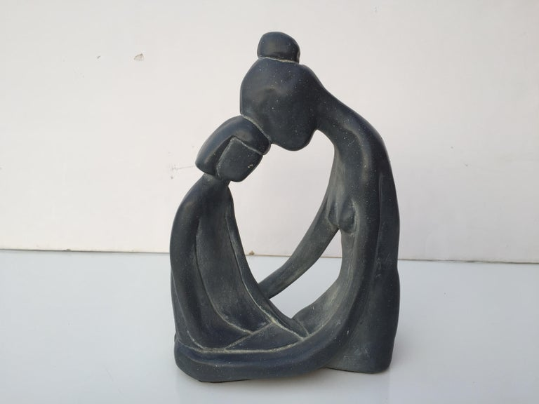Mid-Century Modern Mother and Child Sculpture For Sale