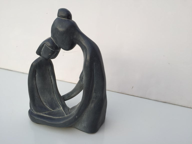 American Mother and Child Sculpture For Sale