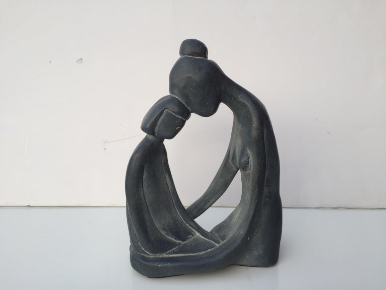 20th Century Mother and Child Sculpture For Sale