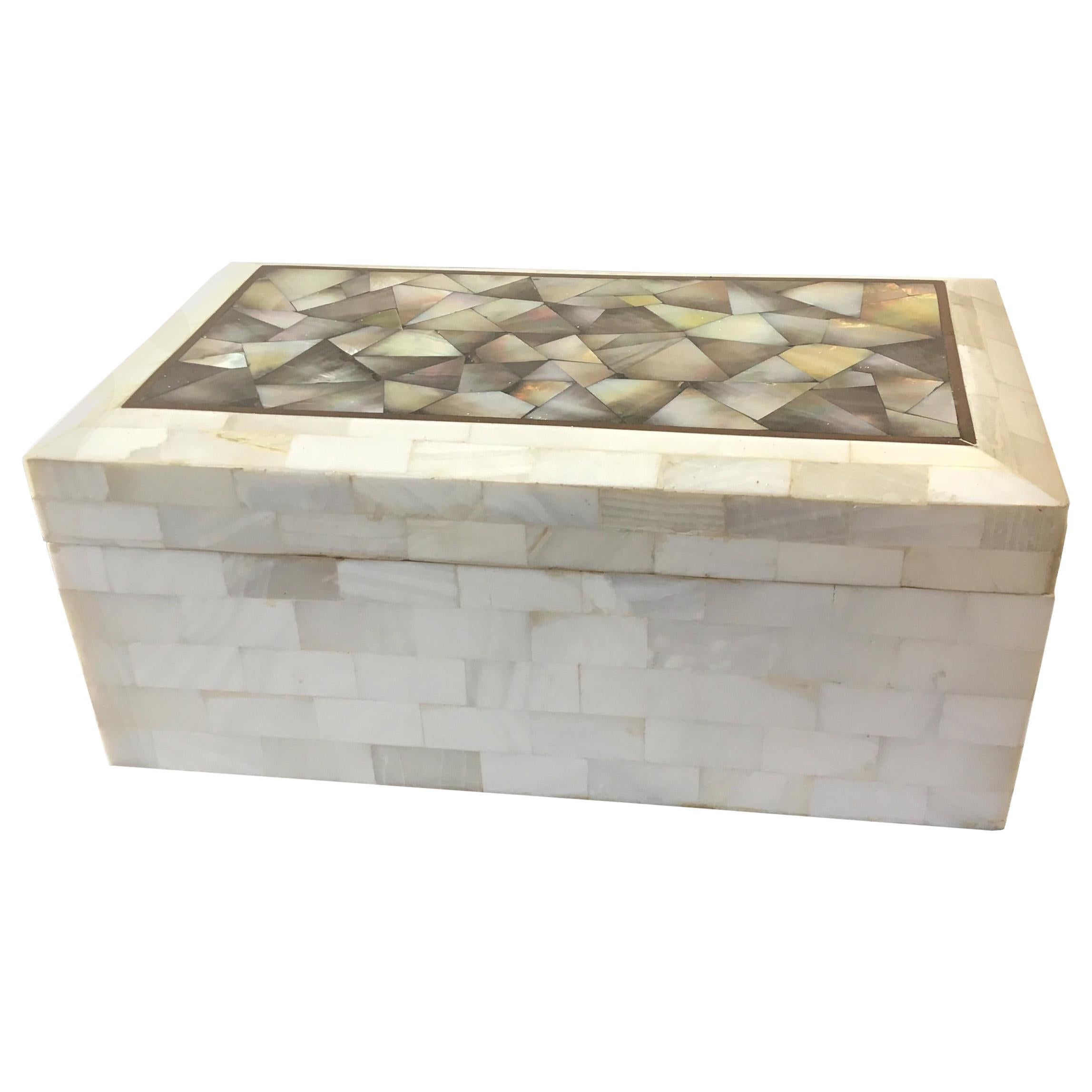 Mother of Pearl and Bone Box