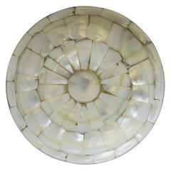 Mother-of-Pearl and Brass Round Box