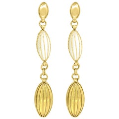 Mother of Pearl and Gold Dangle and Drop Earrings