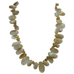 Mother of Pearl Citrine Gemstome Necklace