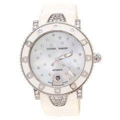 Mother of Pearl Diamond Lady Driver 8103-101 Women's Wristwatch 40 mm