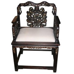 Mother-of-Pearl Inlaid Chair
