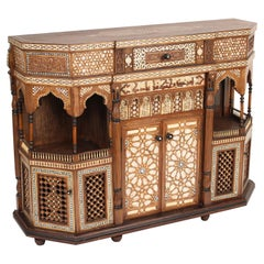 Mother of Pearl Inlaid Middle Eastern Cabinet