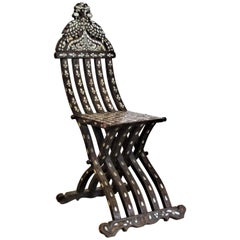 Mother of Pearl Inlaid Syrian Folding Chair