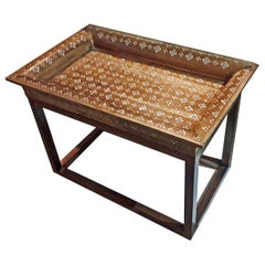 Mother-of-Pearl Inlaid Tray Table from India