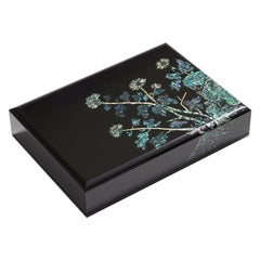 Mother of Pearl Lacquer Box with Chrysanthemum Flowers Design by Arijian