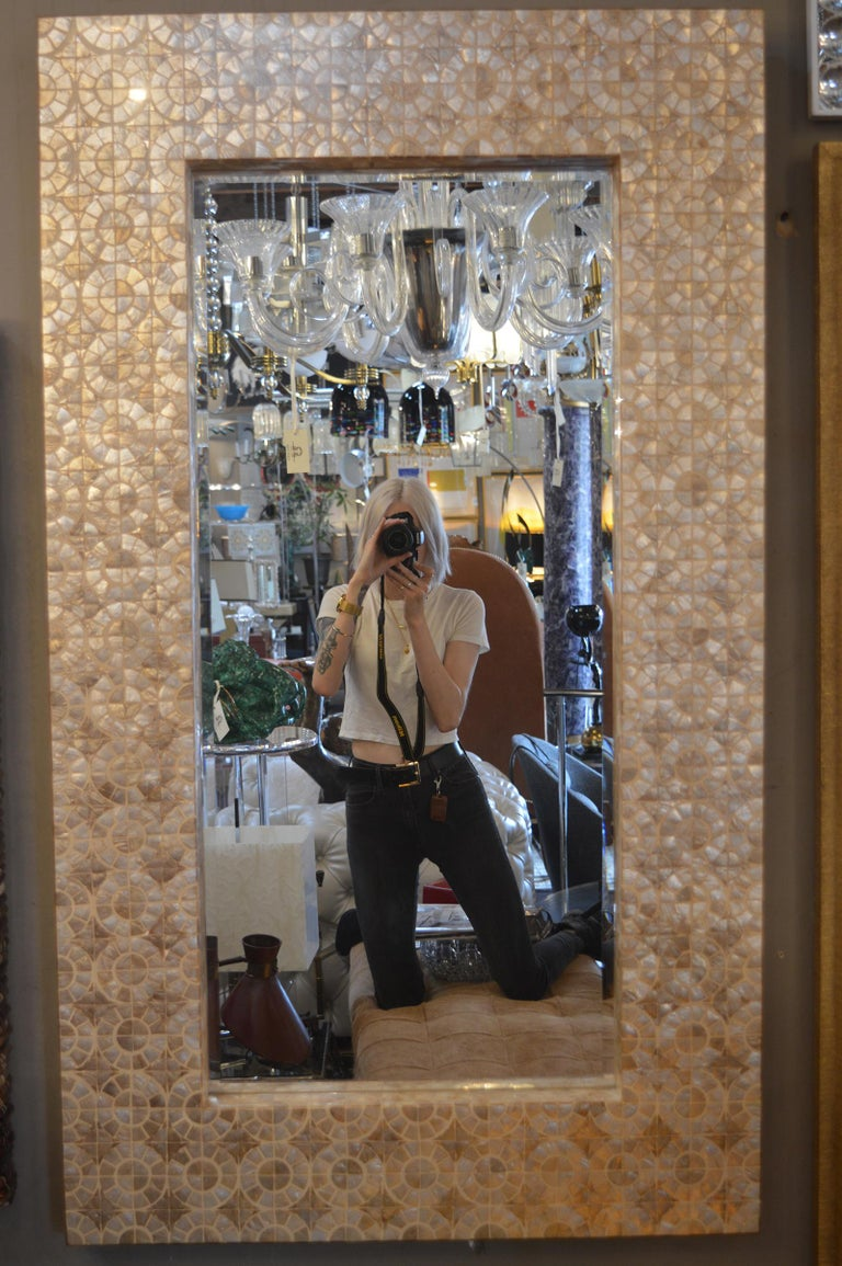 Mother of pearl mirror.