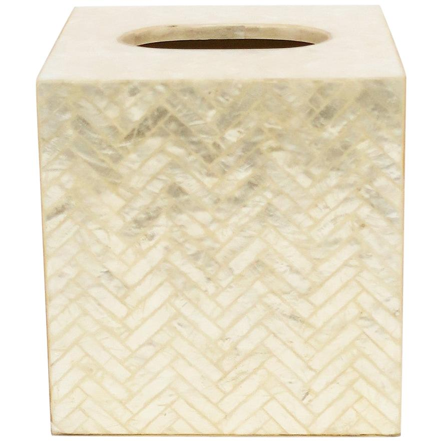 Mother of Pearl Seashell Tissue Box Cover