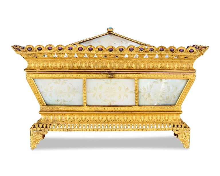 French Mother-of-Pearl Sewing Nécessaire For Sale