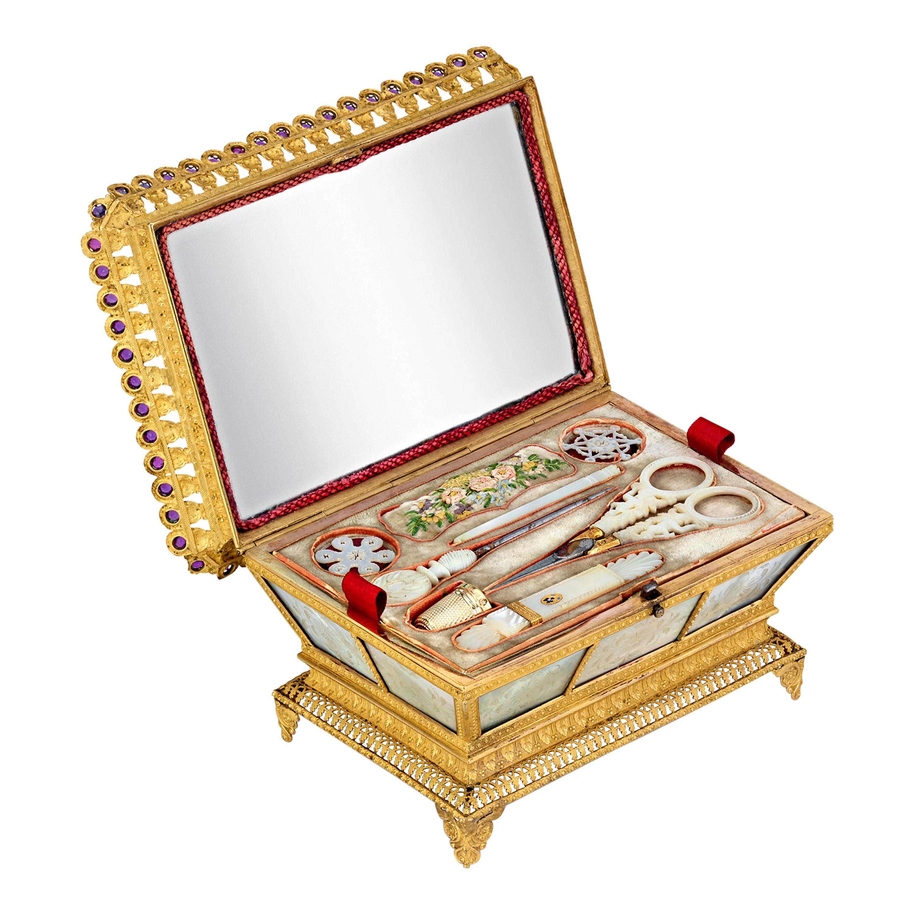 Mother-of-Pearl Sewing Nécessaire