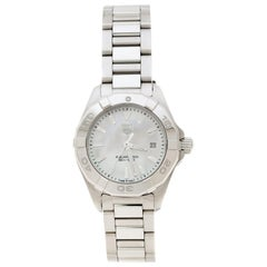 Mother of Pearl Stainless Steel Aquaracer WAY1412 Women's Wristwatch 27 mm