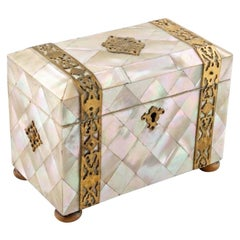 Mother of Pearl Tea Caddy, 19th Century