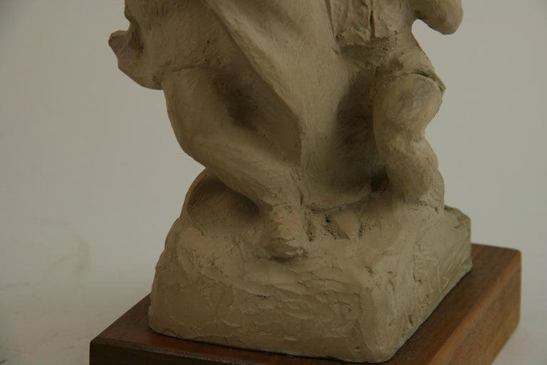 Mother with Children Cast Stone Sculpture For Sale 1