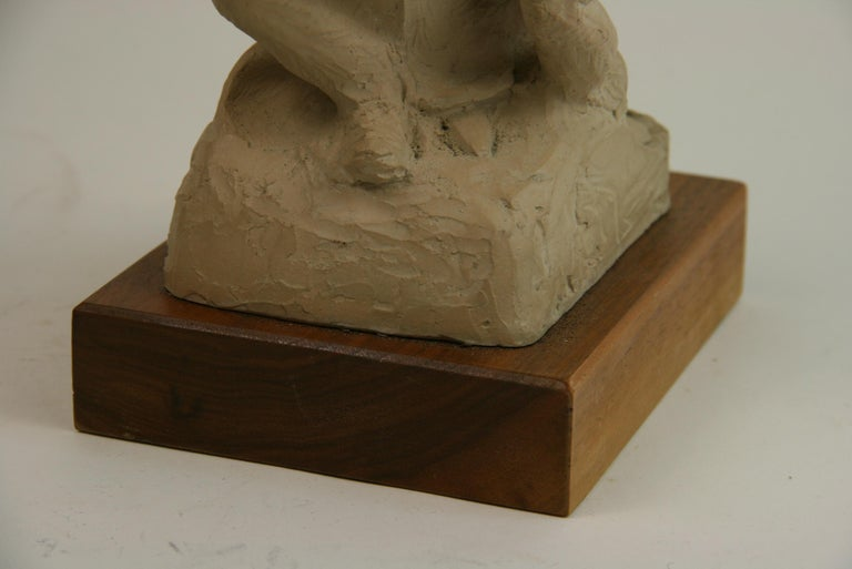 Mother with Children Cast Stone Sculpture For Sale 2