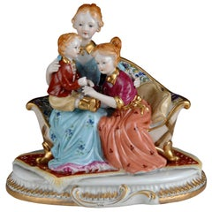 Mother with Children, Porcelain, 20th Century