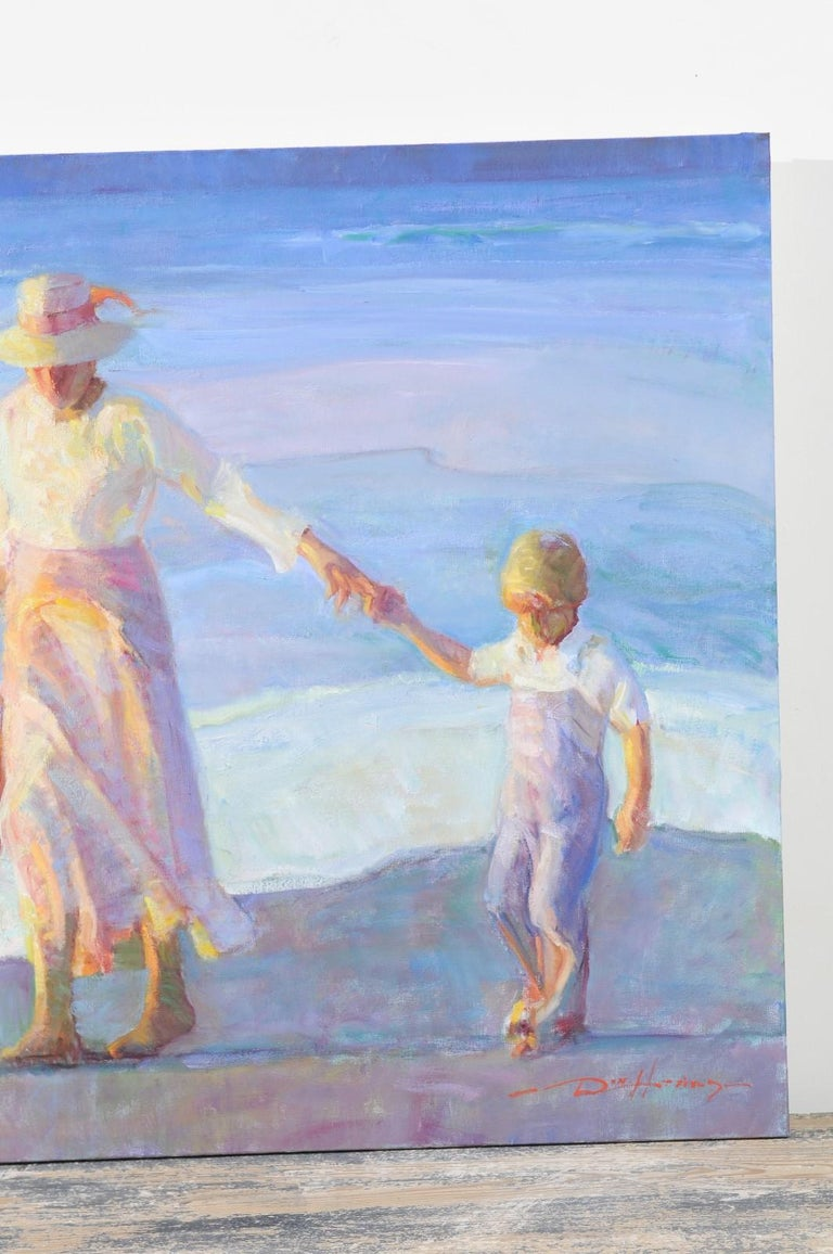 Mother's Joy by Don Hatfield, Original Contemporary American Beach Painting For Sale 3