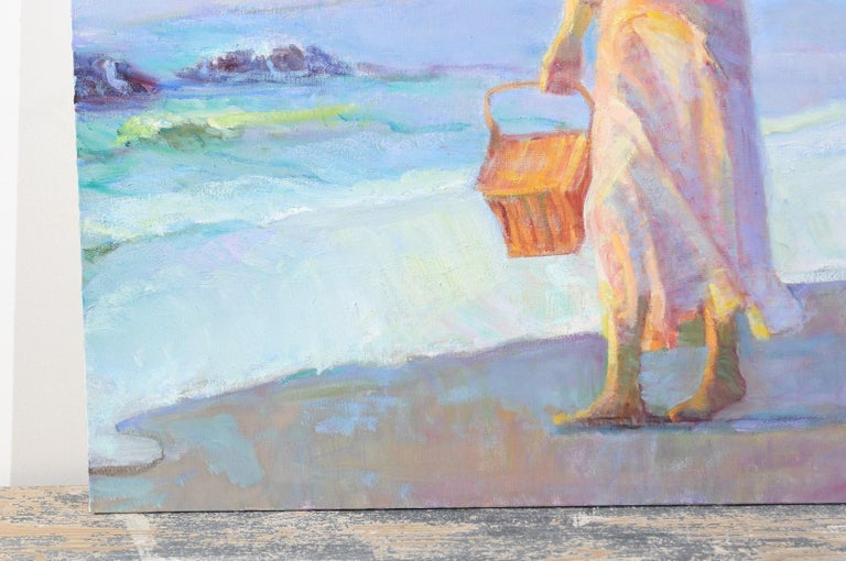 Mother's Joy by Don Hatfield, Original Contemporary American Beach Painting For Sale 6