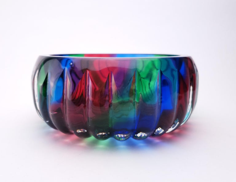 Modern Mothership Catch All - Handblown Contemporary Glass Vessel for the Home For Sale