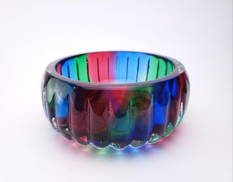 American Mothership Catch All - Handblown Contemporary Glass Vessel for the Home For Sale