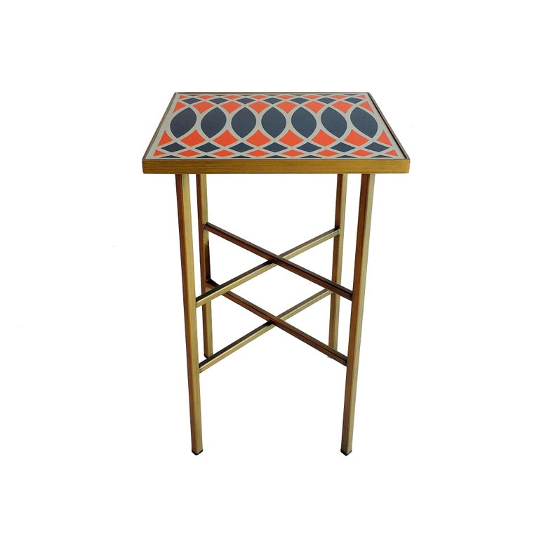 Modern Motif Side Table, Designed by Analogia Project For Sale