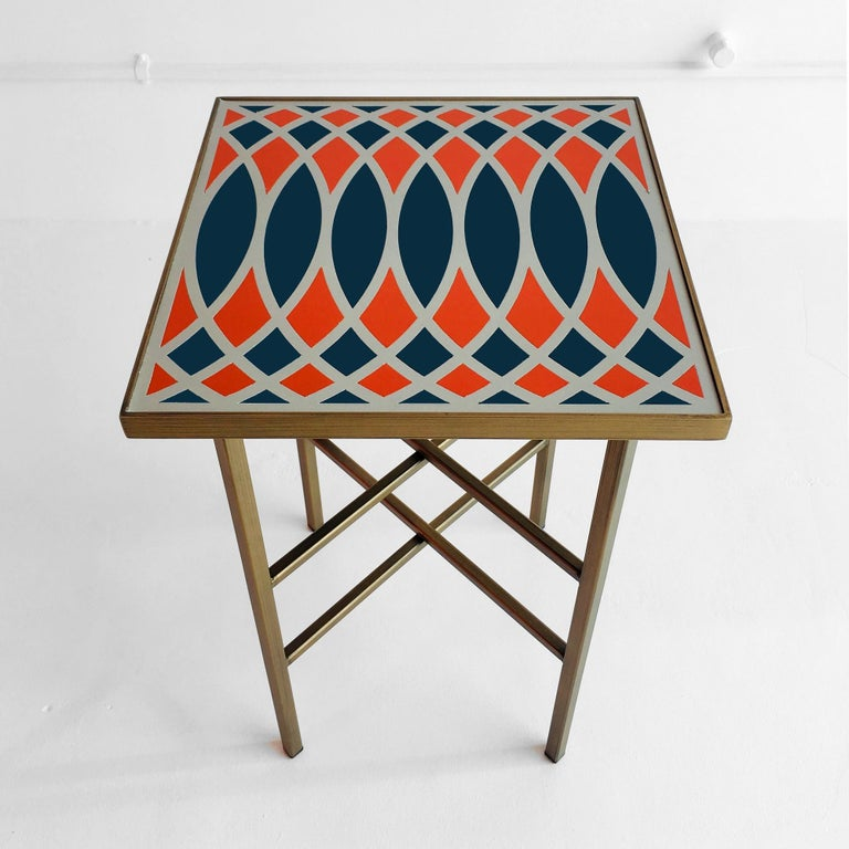 Italian Motif Side Table, Designed by Analogia Project For Sale