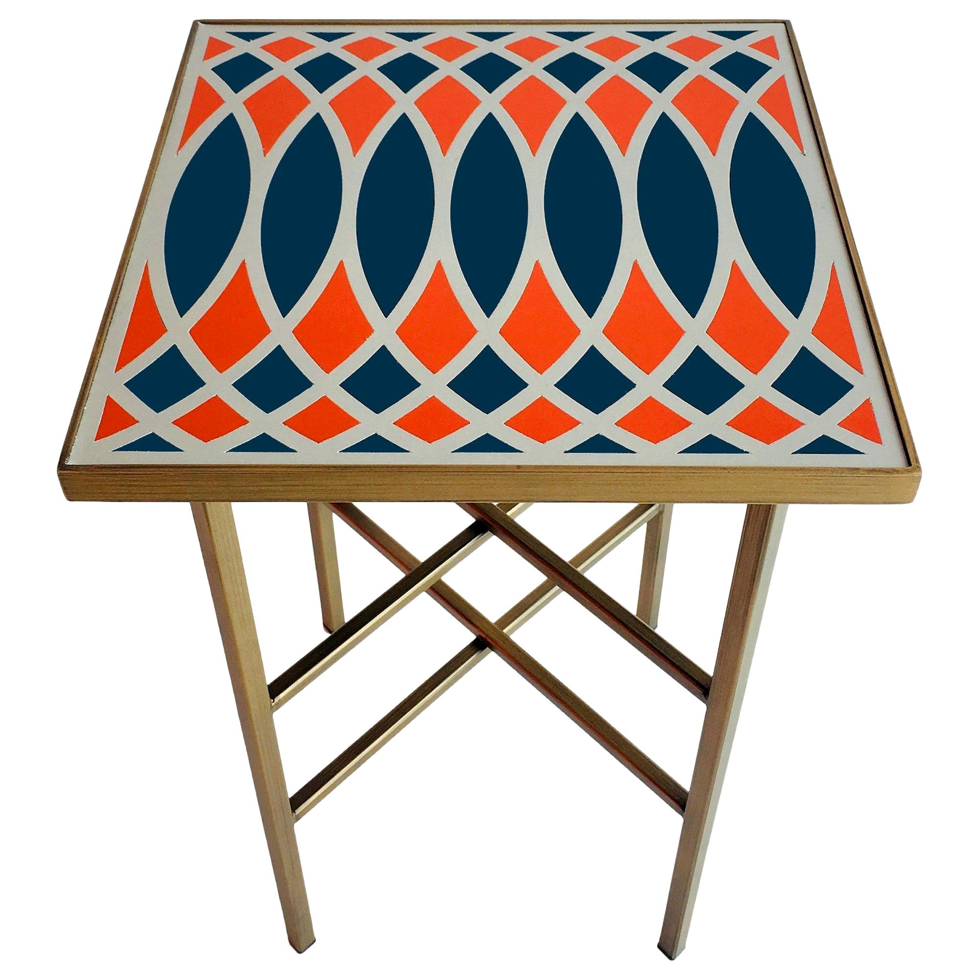 Motif Side Table Designed by Analogia Project, Made in Italy