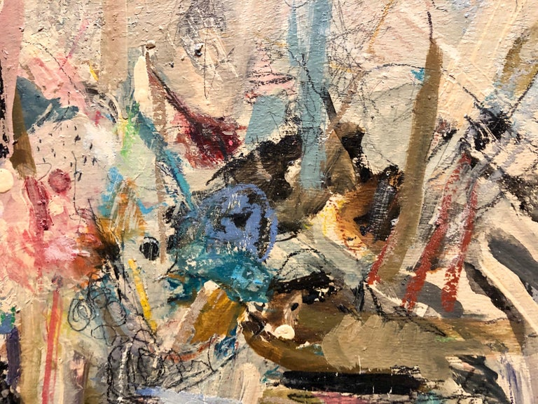 Israeli Modernist Abstract Expressionist Oil Painting  For Sale 1