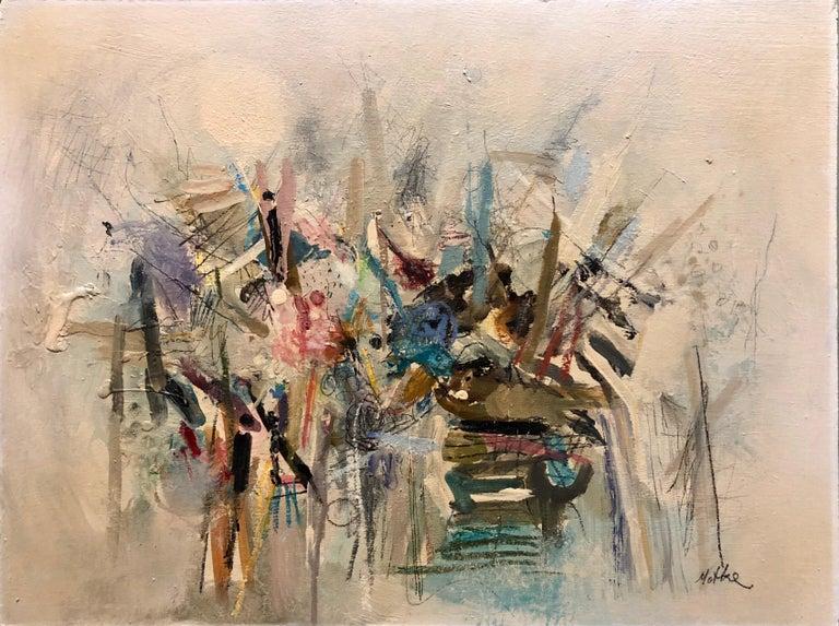 Motke Blum Landscape Painting - Israeli Modernist Abstract Expressionist Oil Painting