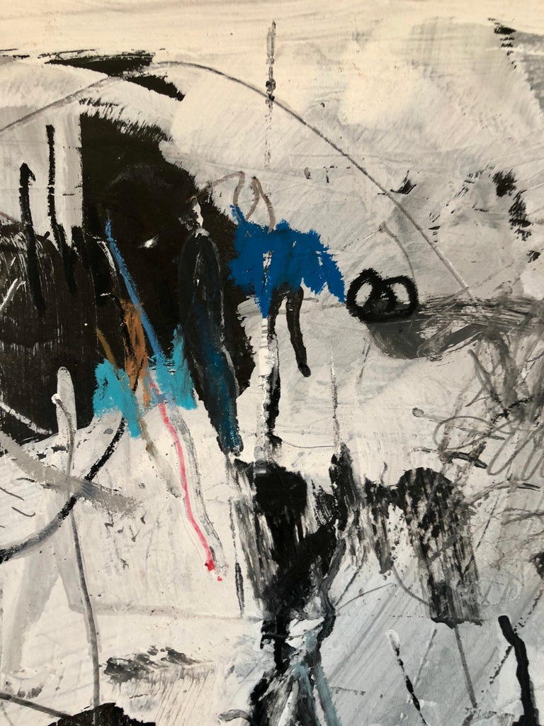 Israeli Motke Blum Modernist Abstract Expressionist Oil Painting Bezalel Artist  For Sale 1