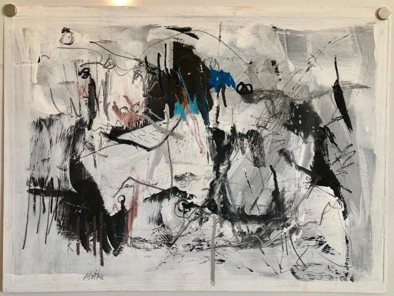 Israeli Motke Blum Modernist Abstract Expressionist Oil Painting Bezalel Artist  For Sale 3