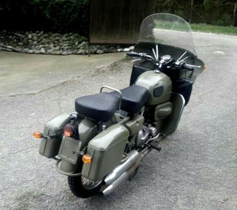 Italian motorcycle order to made for the Yugoslavian Special Force Tim. Made only 500 pieces. 70 of them was used for the President Tito military police and his personal escort. Motor has circa 2500 Km. Moto Guzzi motorcycle is in garage in Italy
