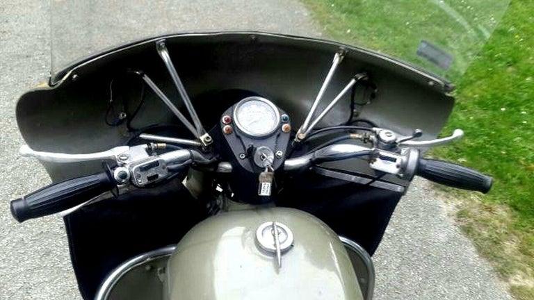 Late 20th Century Moto Guzzi Nuovo Falcone Military 500cc 1972 For Sale