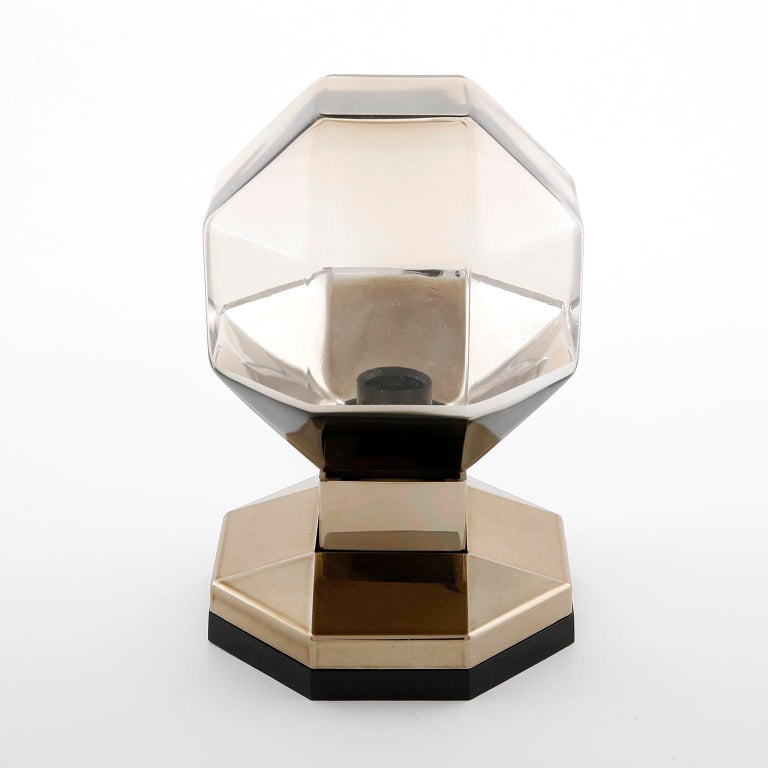 Mid-Century Modern Motoko Ishii Sconces Wall Lights, Brass Glass, Staff, Germany, 1970s For Sale