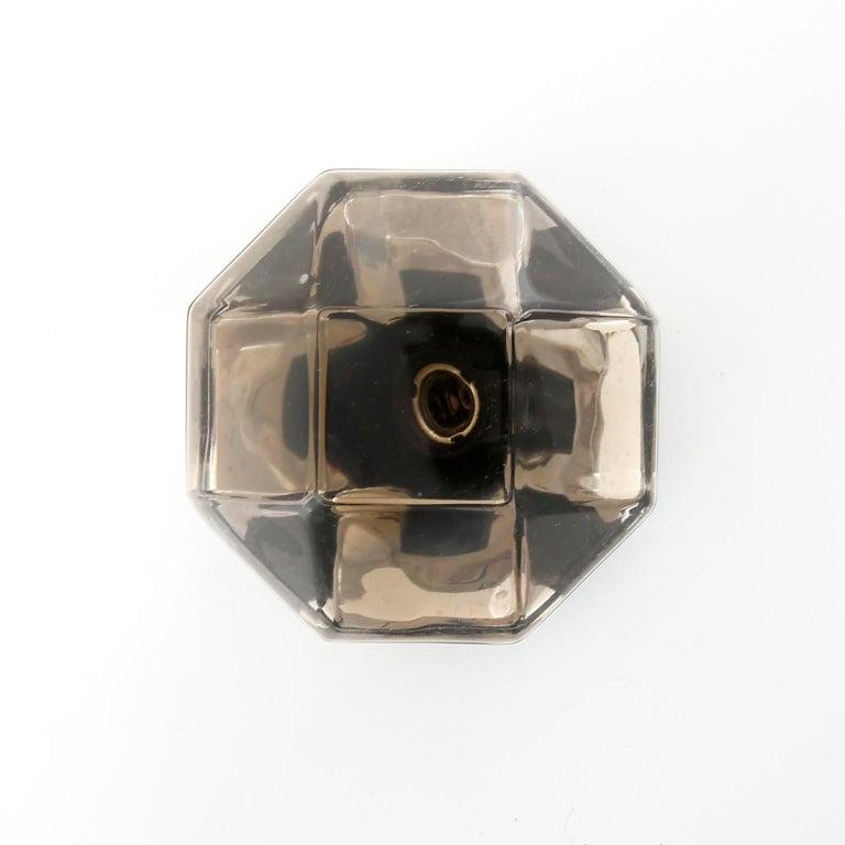Motoko Ishii Sconces Wall Lights, Brass Glass, Staff, Germany, 1970s For Sale 2