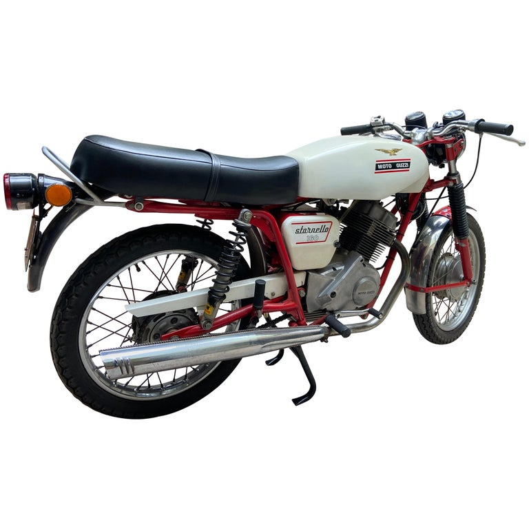 Motorbike Guzzi, Stornello 160 White, 1971 For Sale