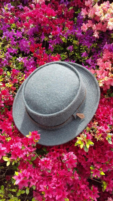 Motsch Paris for Hermès Felt Hat Grey Size 56 For Sale 6