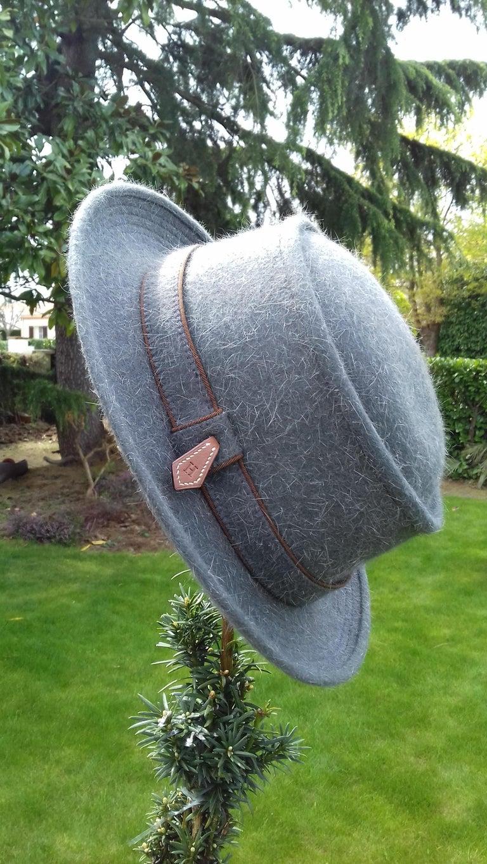 Motsch Paris for Hermès Felt Hat Grey Size 56 For Sale 7