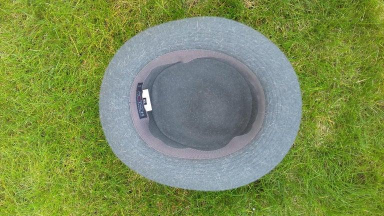 Gray Motsch Paris for Hermès Felt Hat Grey Size 56 For Sale