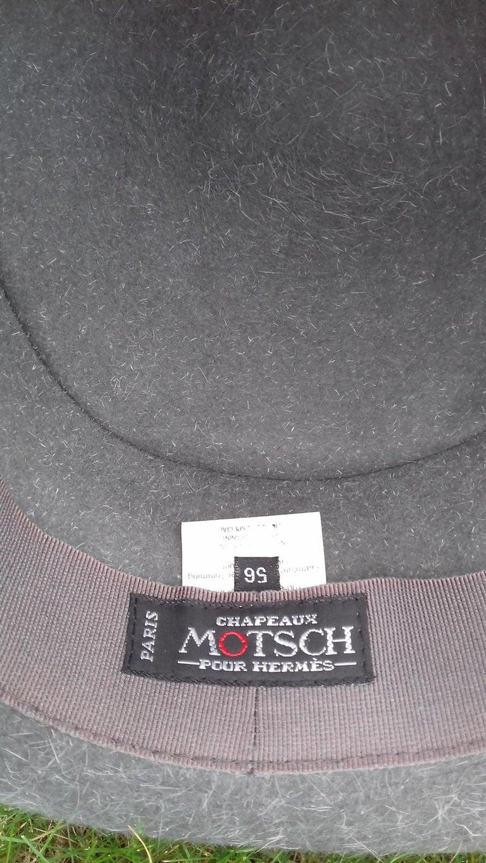 Women's Motsch Paris for Hermès Felt Hat Grey Size 56 For Sale